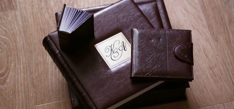 Комплект свадебной фотокниги «Премиум» в бордовом или коричневом цвете