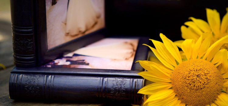 Комплект свадебных фотокниг в синем цвете