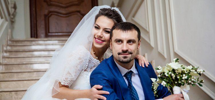Свадебное утро жениха и невесты. Фотосессия на студии