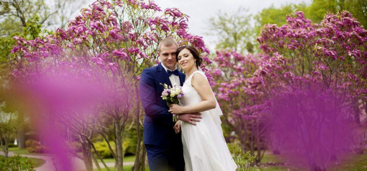 Весенняя свадебная фотосессия в Межигорье