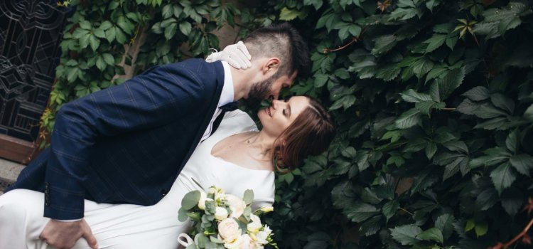 Свадебная фотосессия в Межигорье. Идеи для свадебного платья