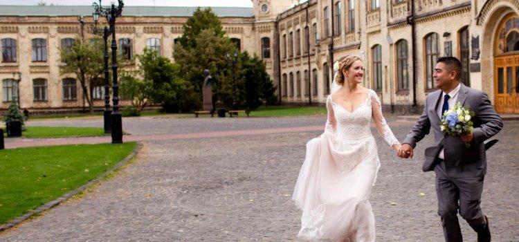 Свадебная фотосессия возле КПИ. Венчание Ольги и Луиса
